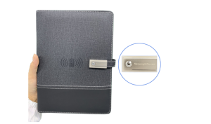 Personalized Notebooks With Wireless Charging Corporate Gifts Laser Engraving